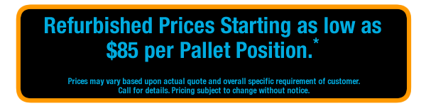Pricing for Push Back Racking