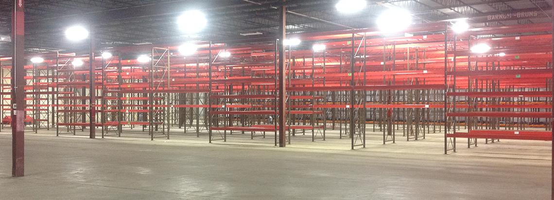 a warehouse filled with got rack selective refurbished rack