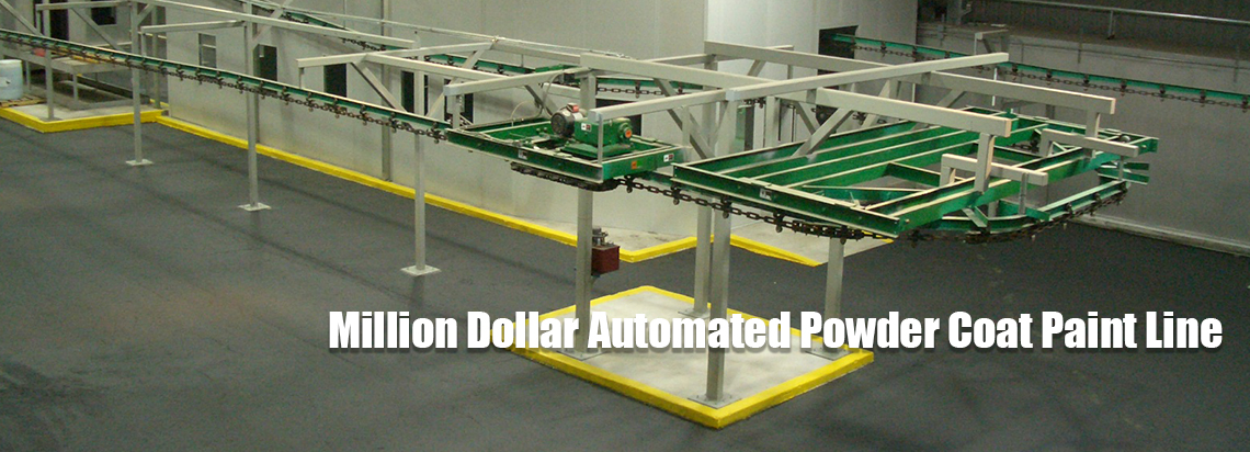 got-rack $1 million powder coat pallet rack paint line