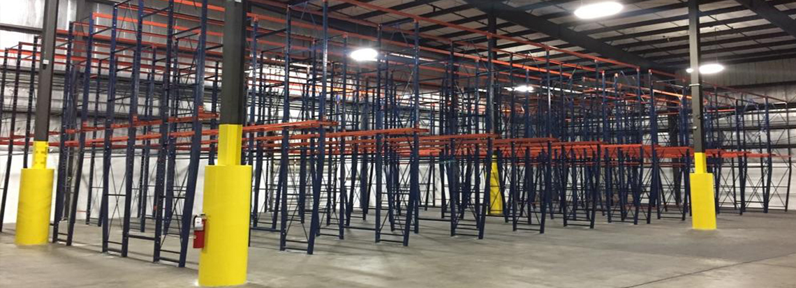 warehouse filled with got-rack drive-in pallet racking