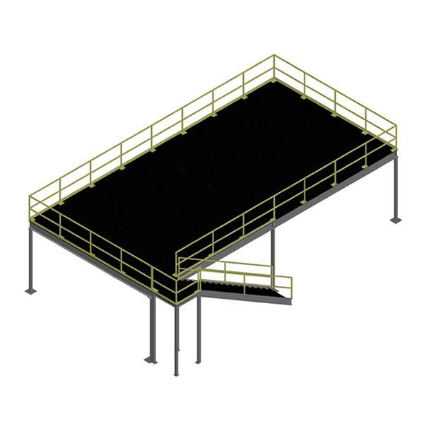 Refurbished Mezzanine 20' x 40' Bar Grating